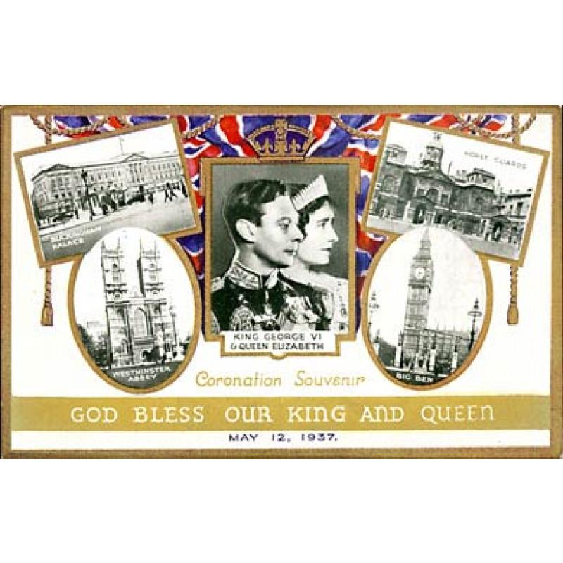 1937 Coronation Postcard