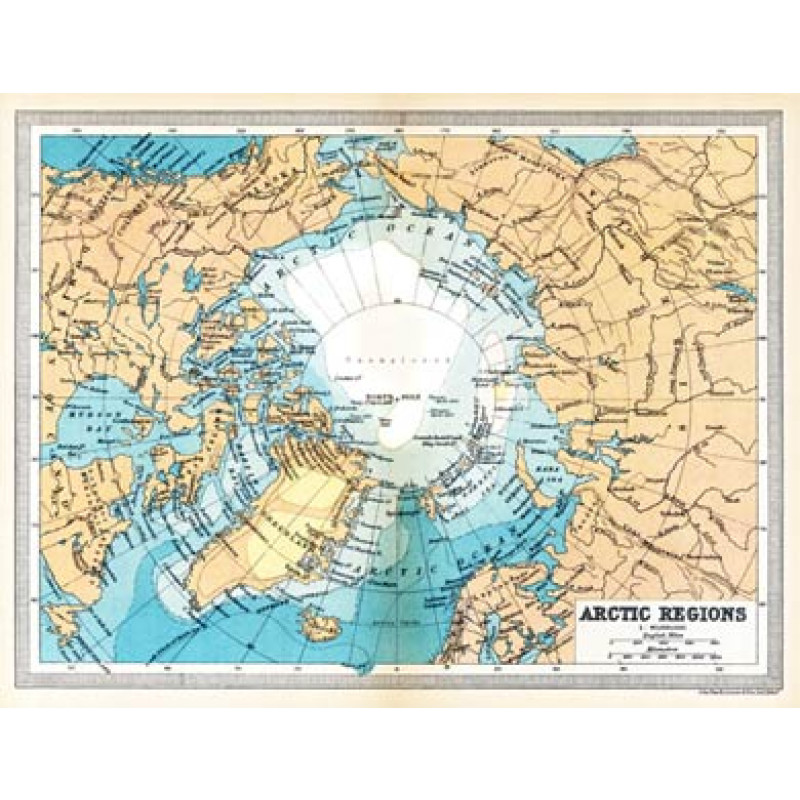 The Arctic, 1922 Map