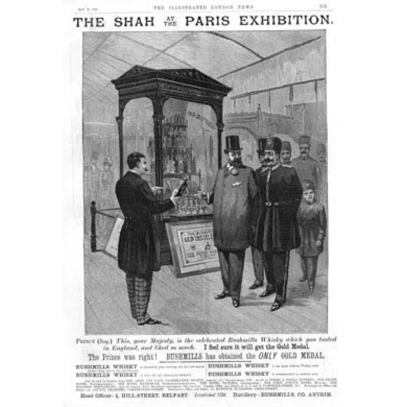Bushmills Paris Exhibition 1889