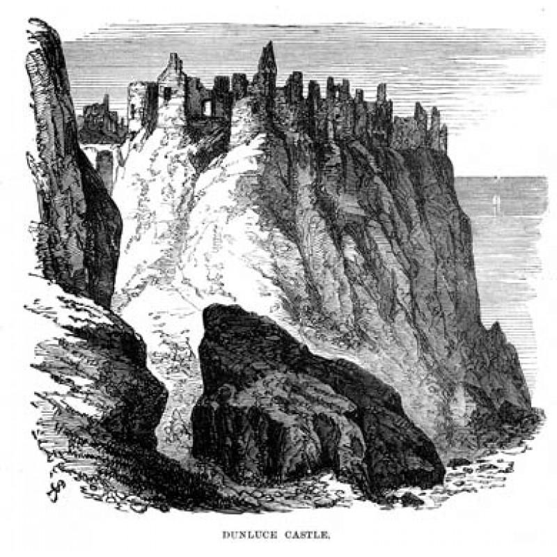 Dunluce Castle, 1874