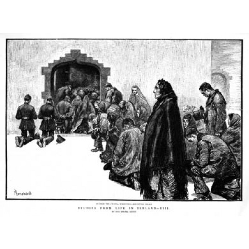 Boycotted Police outside the Church, 1888