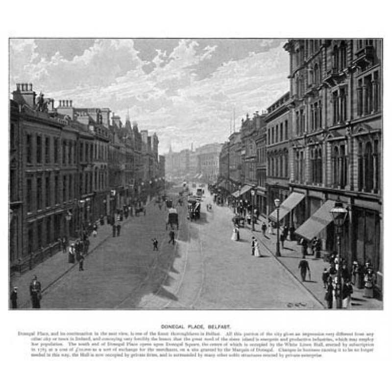 Donegal Place, Belfast, 1901