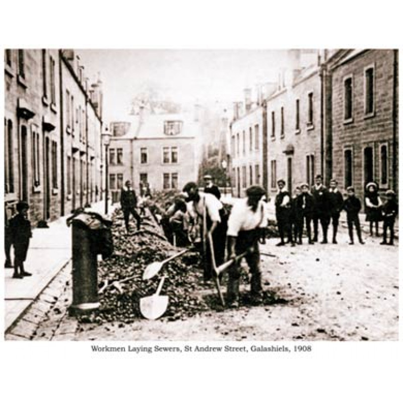 Laying Sewers, Galashiels, 1908