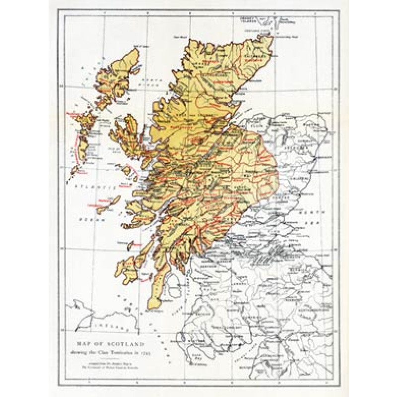 Scotland, Clan Territories, 1745