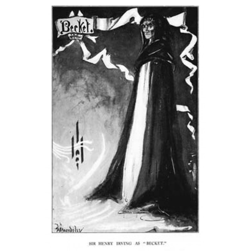Aubrey Beardsley, Sir Henry Irving as Becket