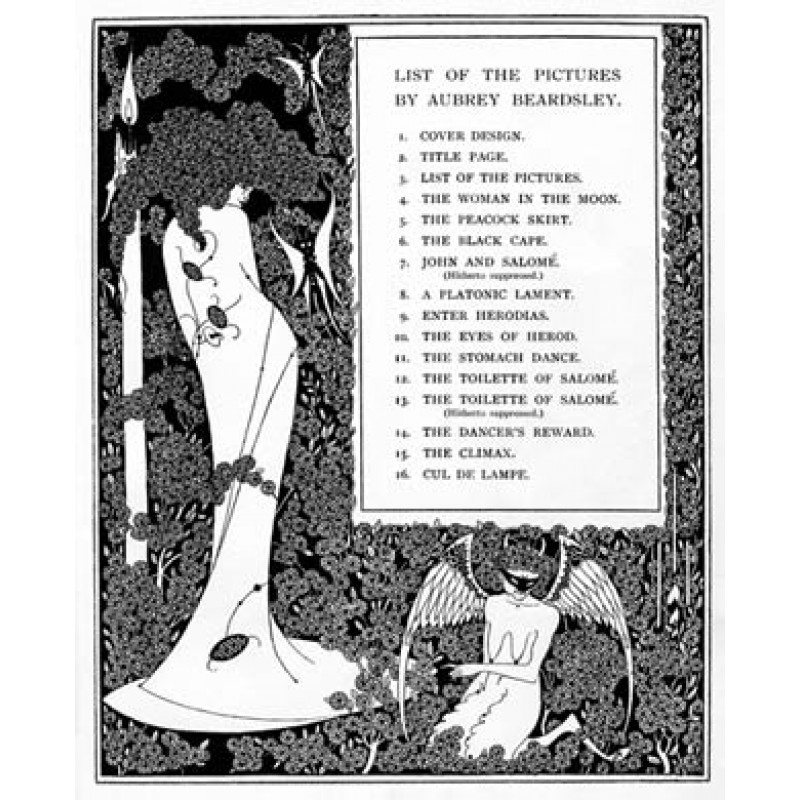 Aubrey Beardsley, Salome, List of Pictures