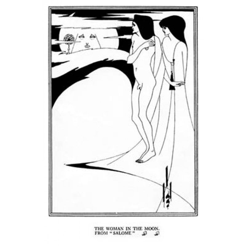 Aubrey Beardsley, Salome, The Woman In The Moon