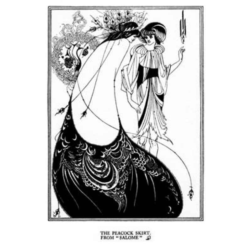 Aubrey Beardsley, Salome, The Peacock Skirt