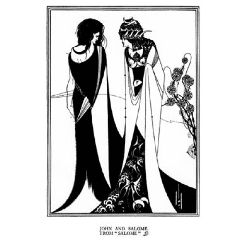 Aubrey Beardsley, Salome, John and Salome