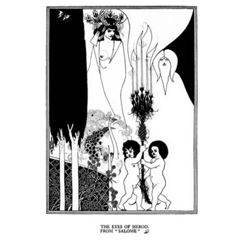 Aubrey Beardsley, Salome, The Eyes Of Herod