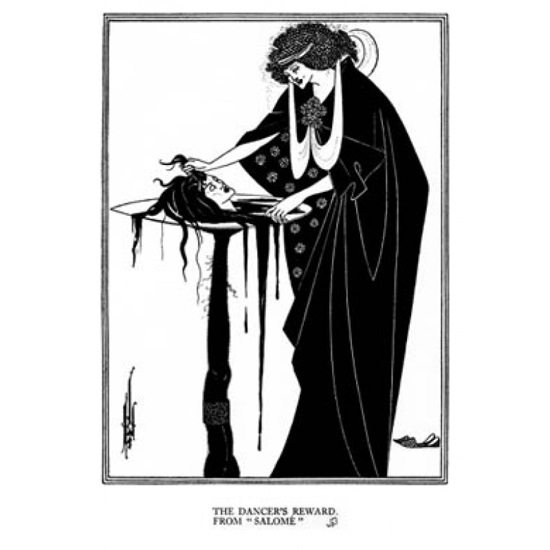 Aubrey Beardsley, Salome, The Dancers Reward