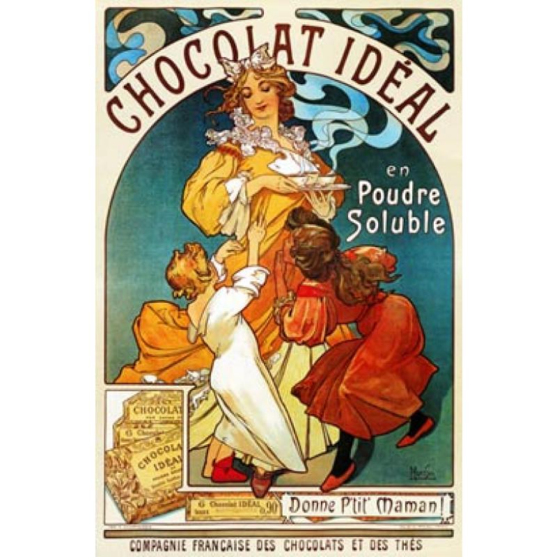Mucha, Chocolat Ideal, 1897