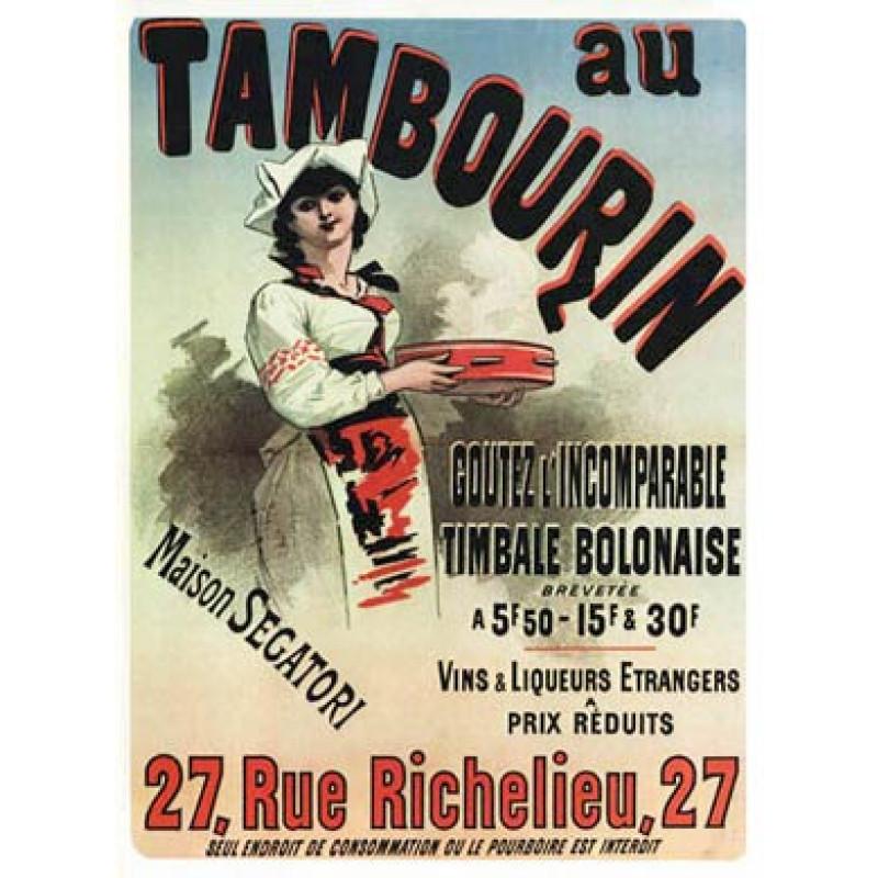 Cheret, Au Tambourin, 1883