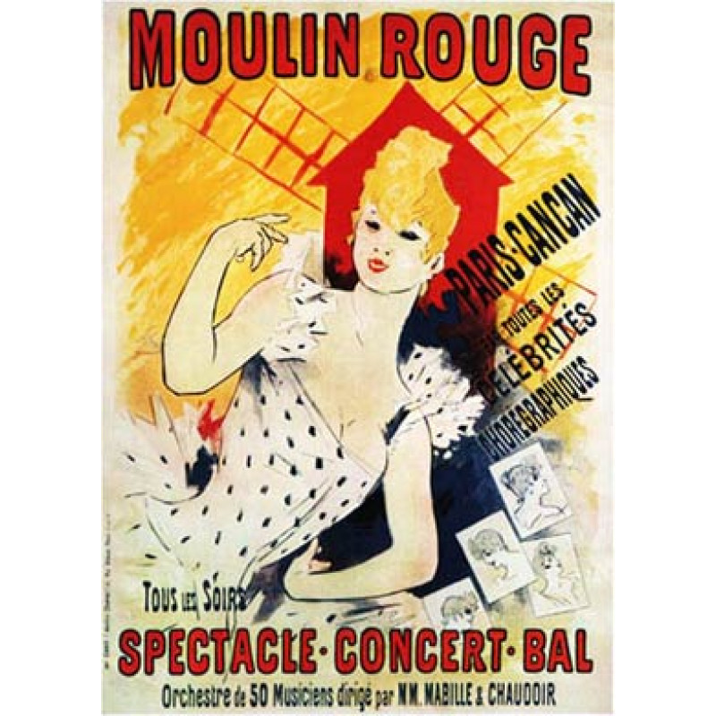Cheret, Moulin Rouge, 1890