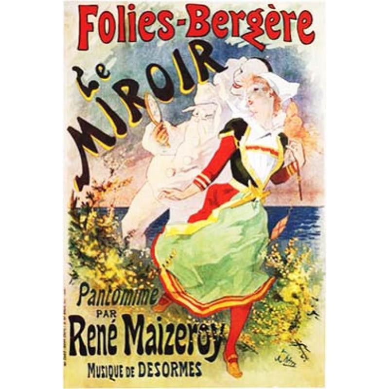 Cheret, Folies Bergere, Le Miroir, 1892