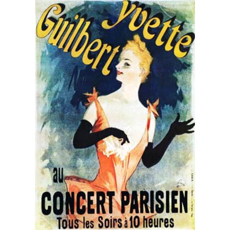 Cheret, Yvette Guilbert, 1891