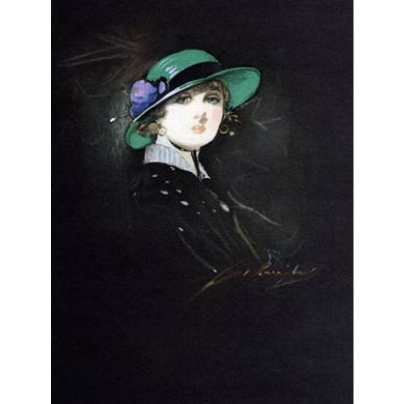 Girl In A Green Hat, 1920
