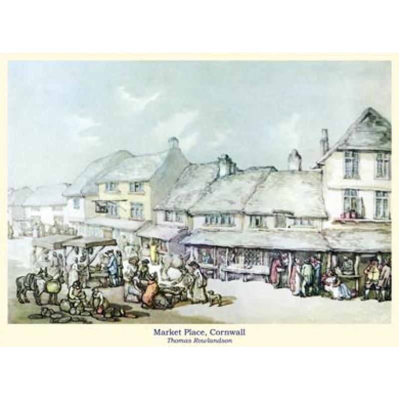 Rowlandson, Market Place, Cornwall