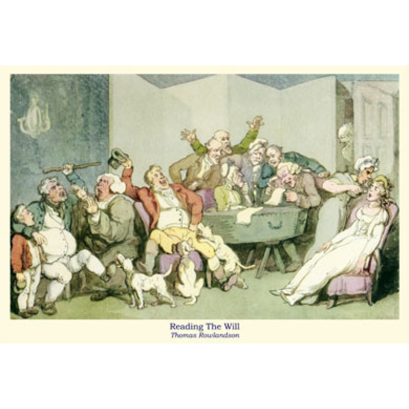 Rowlandson, Reading The Will