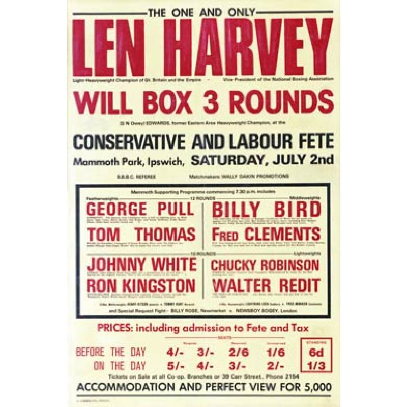 Len Harvey Boxing Poster