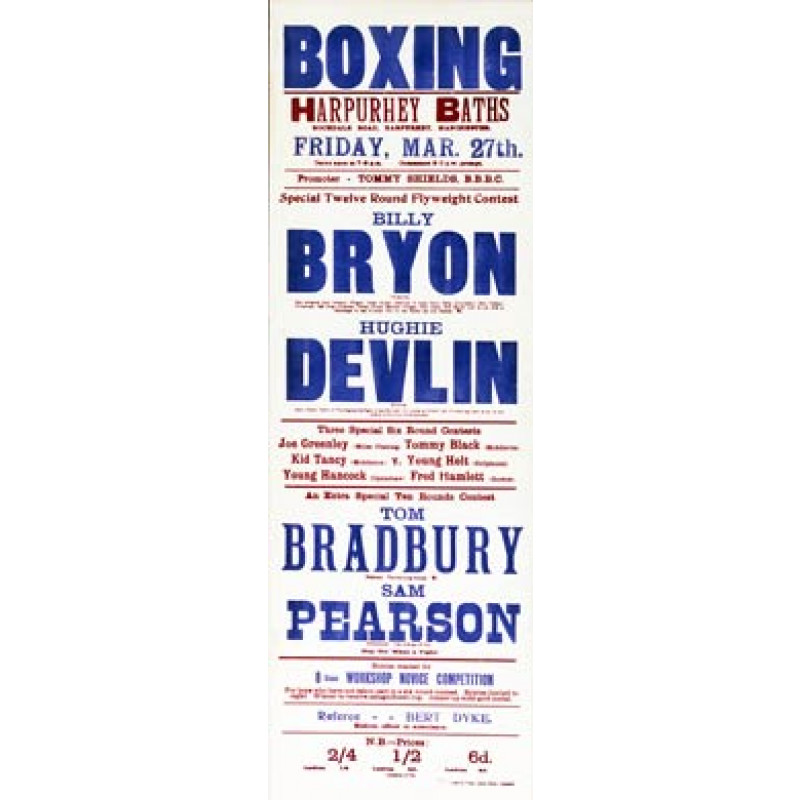Bryon v Devlin Boxing Poster