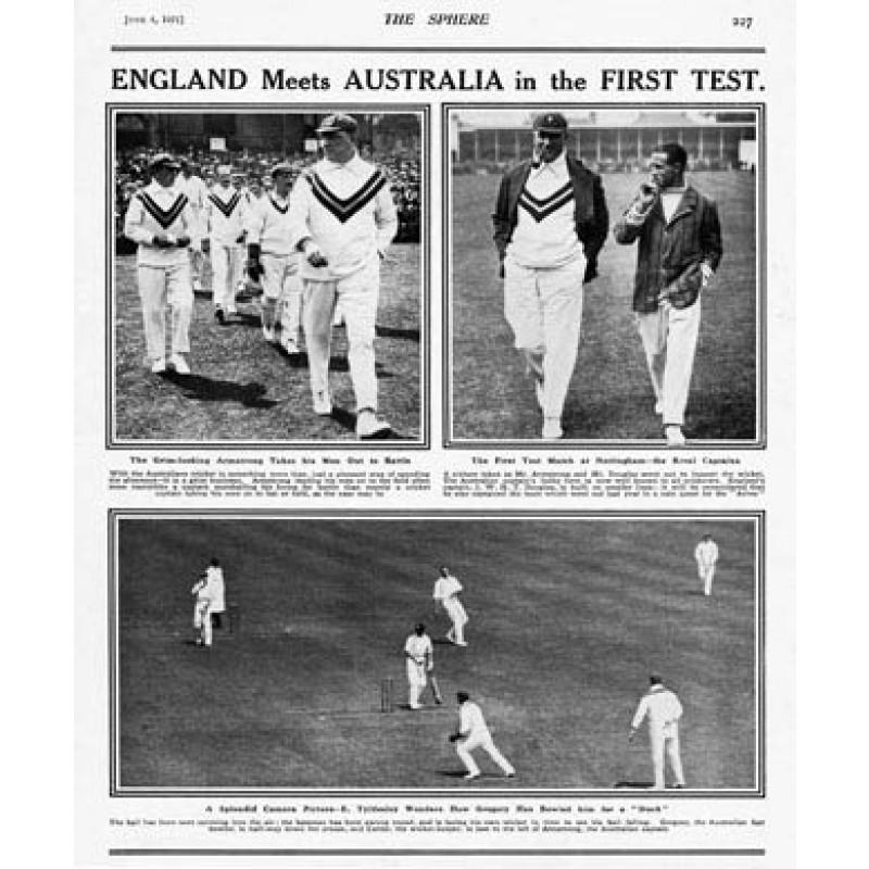 England v Australia, First Test, 1921