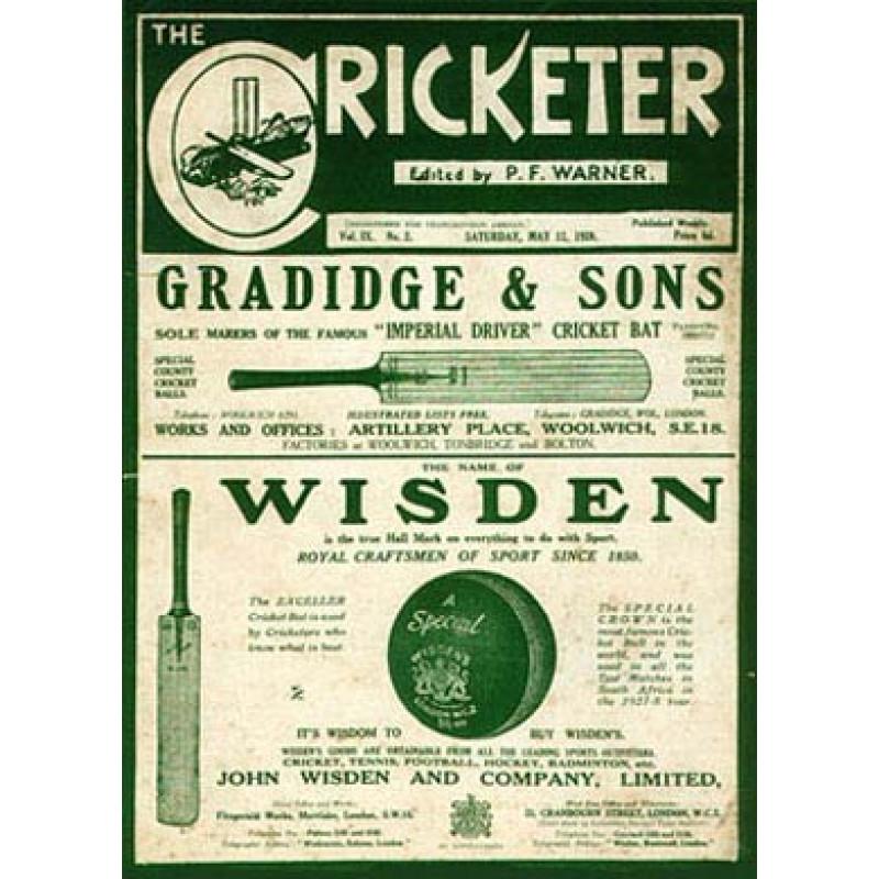 The Cricketer Magazine, 1928