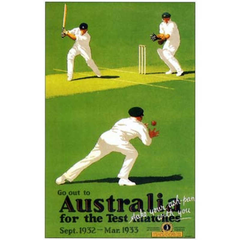 Go To Australia For The Tests, 1932