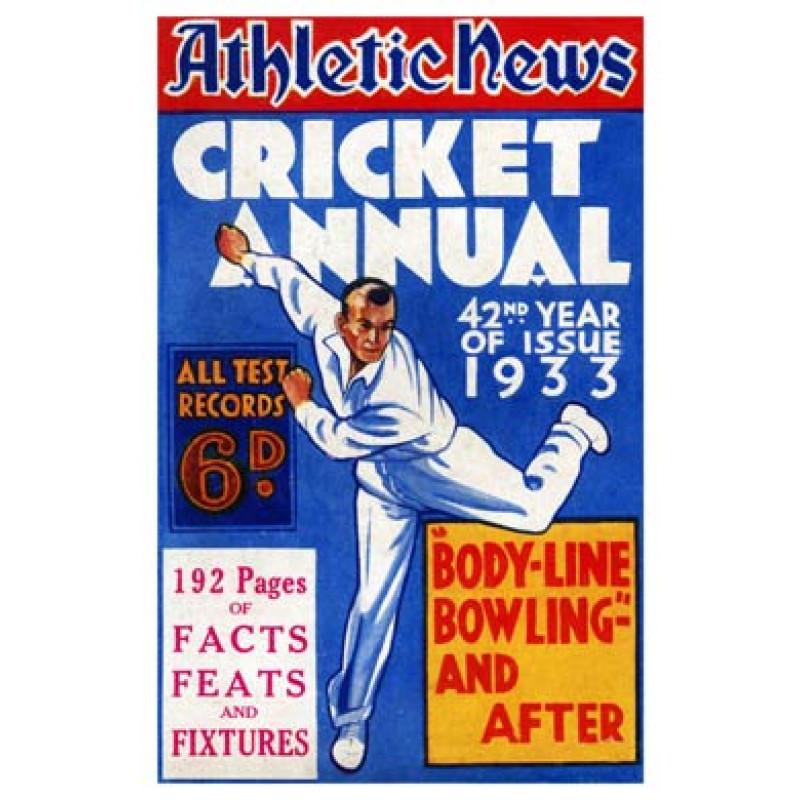 1933 Cricket Annual