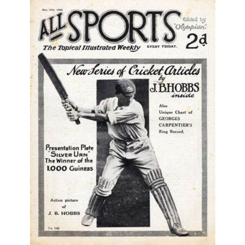 All Sports, Jack Hobbs