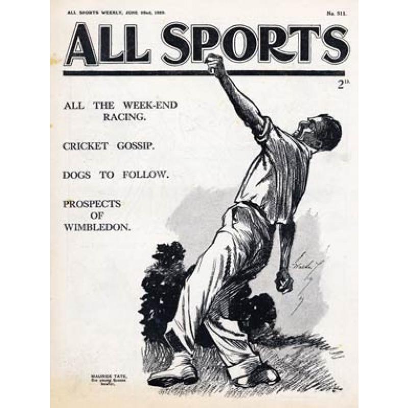 All Sports, Maurice Tate