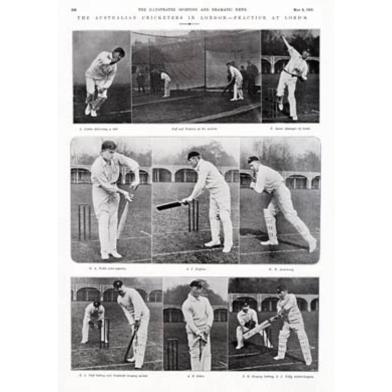 Australian Tourists Practice, 1905