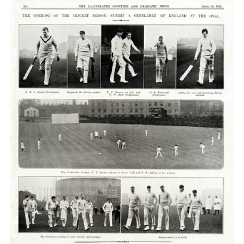 Cricket Season Opens, 1905