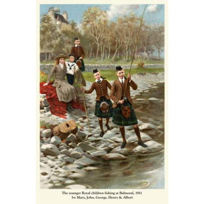 Princes Fishing, Balmoral 1911