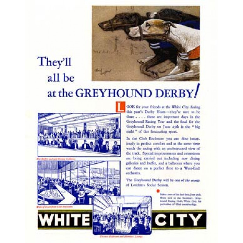 Greyhound Derby, White City, 1932