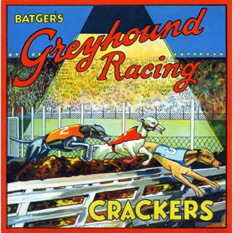 Batgers Greyhound Racing Crackers, 1930