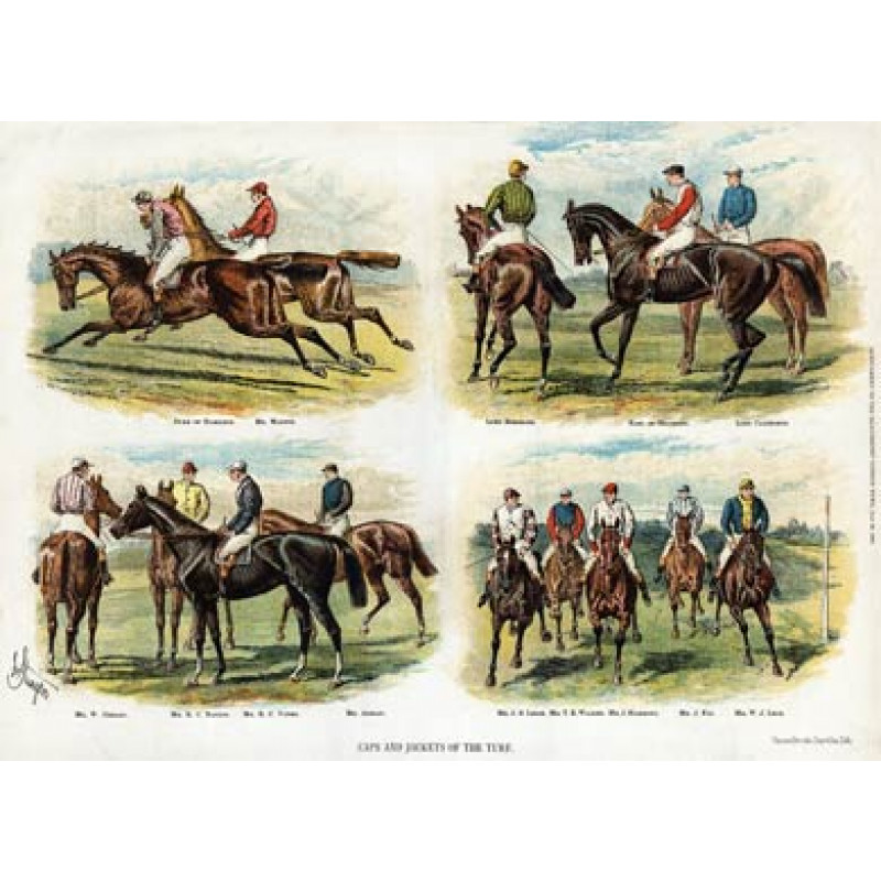 Caps & Jackets Of The Turf 1, 1886