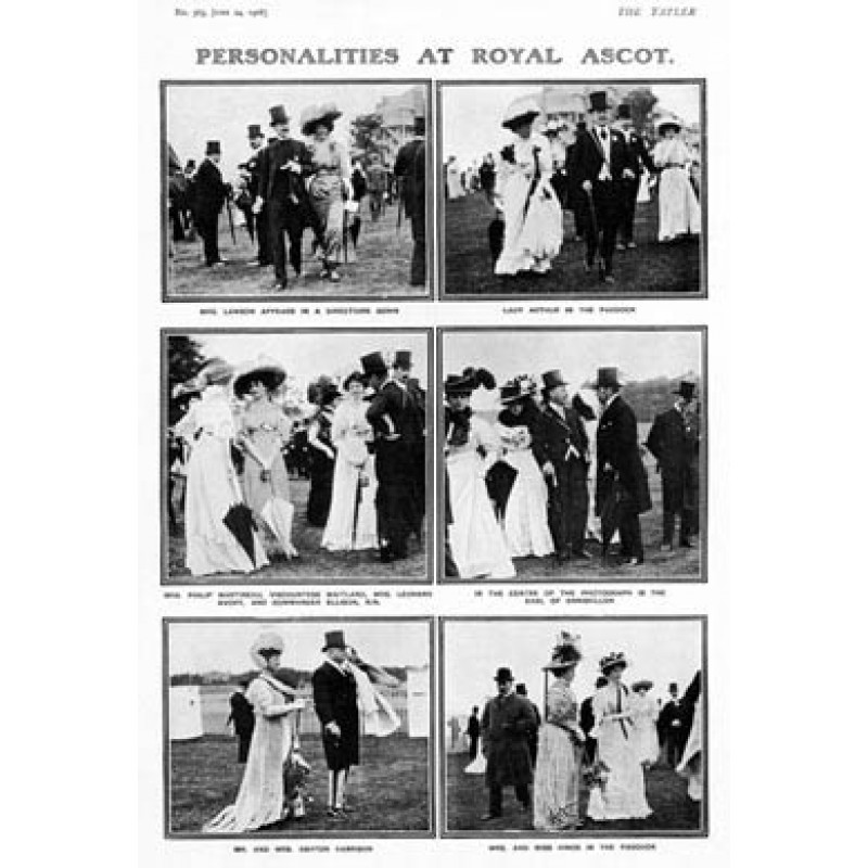 Personalities At Royal Ascot, 1908