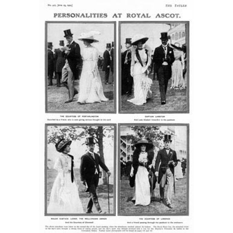 Personalities At Royal Ascot, 1909