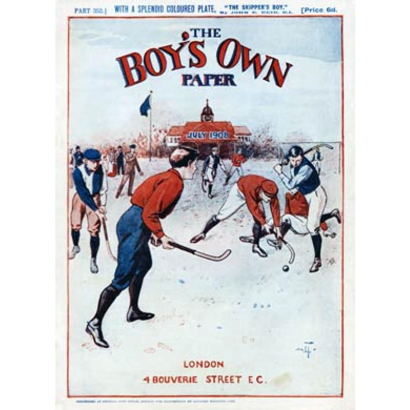Boys Own Hockey 1908