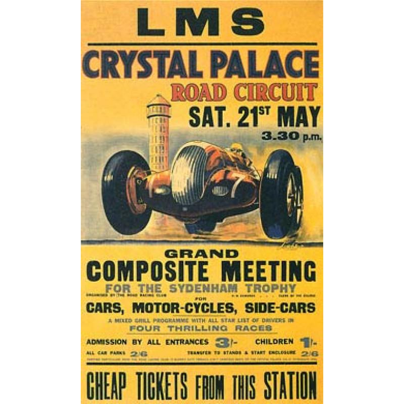 Crystal Palace, Motor Racing, 1938
