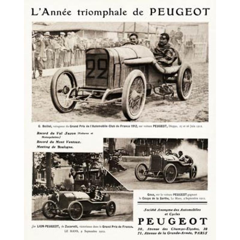 Peugeot's Racing Year, 1912
