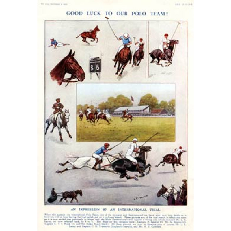 Good Luck To Our Polo Team, 1930