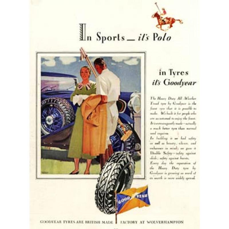 Goodyear Tyres, Polo, 1934