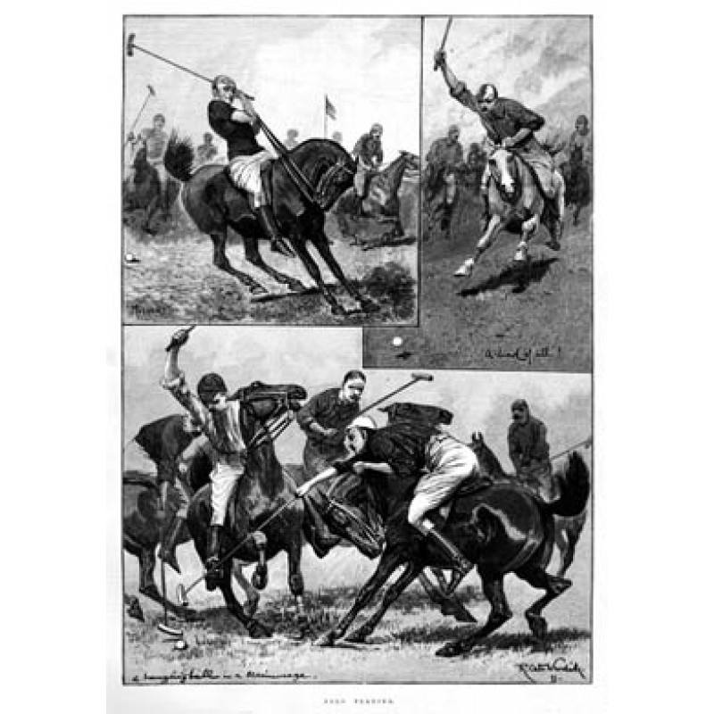 Polo Playing, 1891