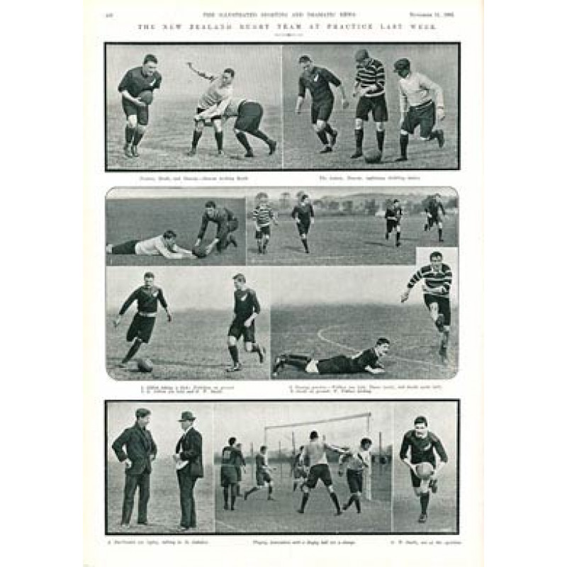 The All Blacks at Practice, 1905