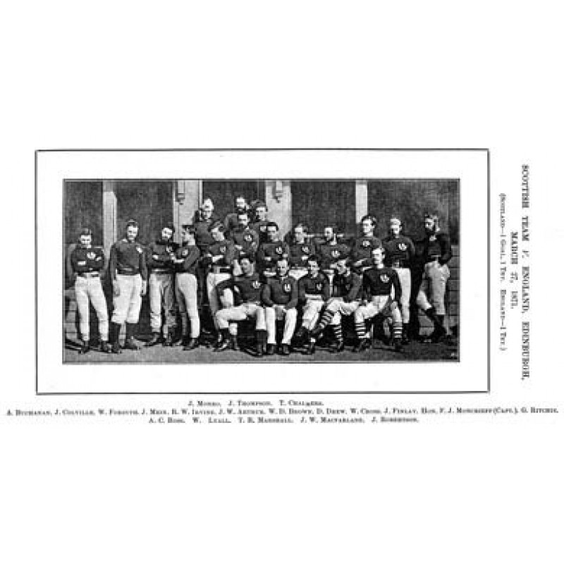 Scotland's First Rugby Team, 1871