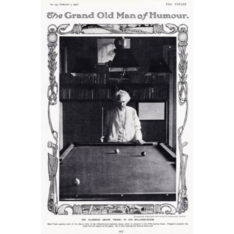 Mark Twain At Billiards