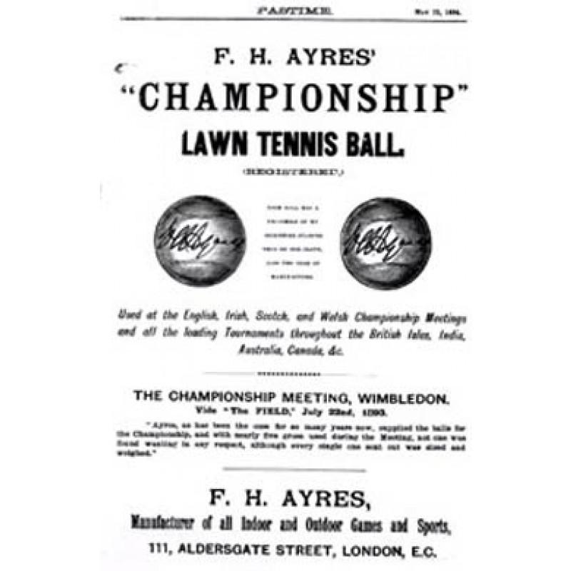 F. H. Ayres Tennis Balls, 1894