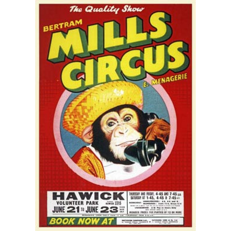 Bertram Mills Circus, Chimp